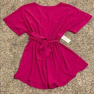 RED DRESS hot pink romper